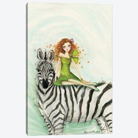 Zebra Zia Canvas Print #BPR274} by Bella Pilar Canvas Artwork