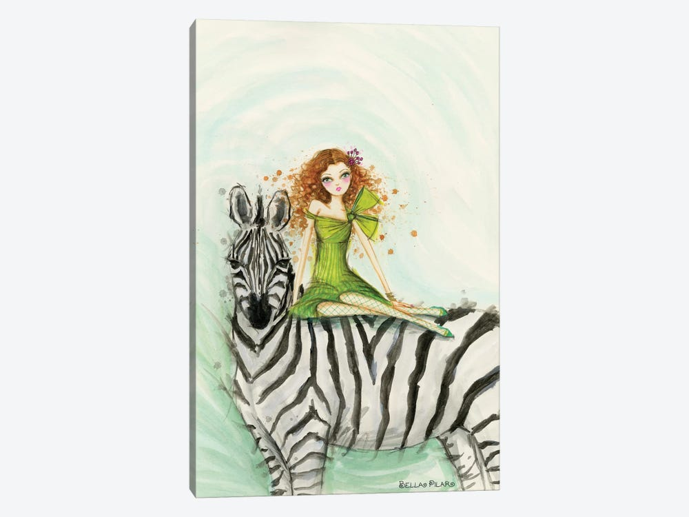 Jungle Lounge Series: Zebra Zia by Bella Pilar 1-piece Art Print