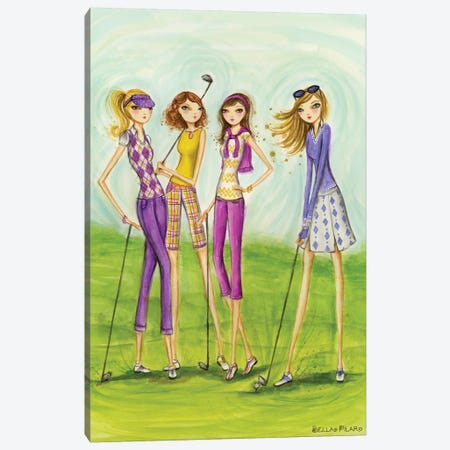 Ladies Golf In Style Canvas Print #BPR275} by Bella Pilar Canvas Wall Art