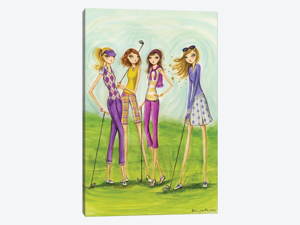 Ladies Golf In Style 1-piece Canvas Artwork