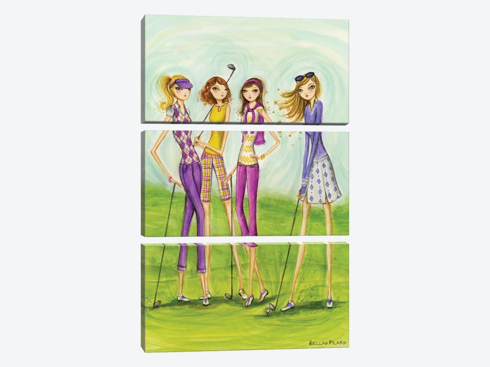 Ladies Golf In Style by Bella Pilar 3-piece Canvas Artwork