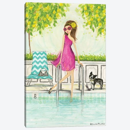 Dip In The Pool Canvas Print #BPR278} by Bella Pilar Art Print