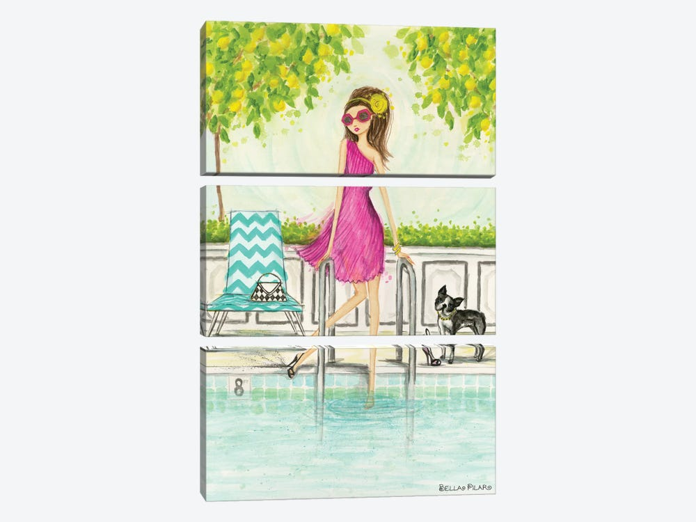 Dip In The Pool by Bella Pilar 3-piece Canvas Art Print
