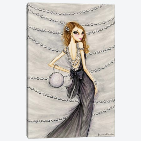 Pretty In Pearls Portia Canvas Print #BPR280} by Bella Pilar Canvas Art