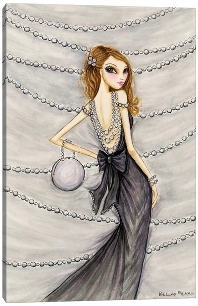 Pretty In Pearls Portia Canvas Art Print
