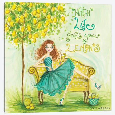 When Life Gives You Lemons Canvas Print #BPR282} by Bella Pilar Canvas Wall Art