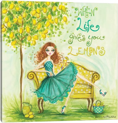 When Life Gives You Lemons Canvas Art Print