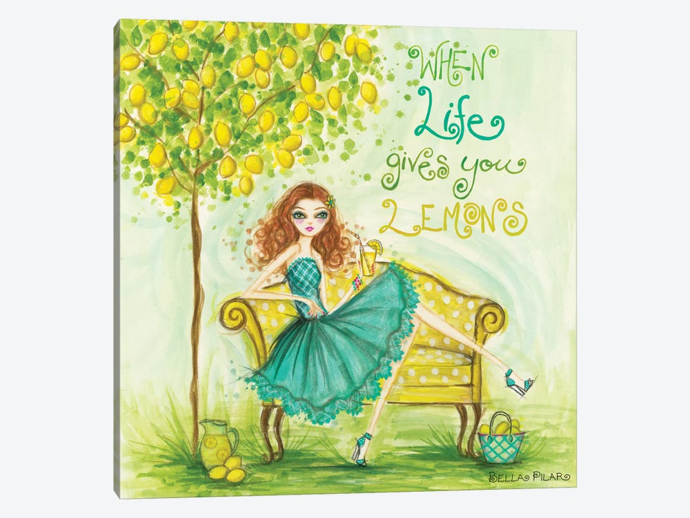 When Life Gives You Lemons by Bella Pilar 1-piece Canvas Art