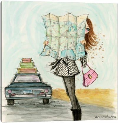 Road Trippin' Fashionista Canvas Art Print