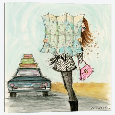 Road Trippin' Fashionista Canvas Print #BPR284} by Bella Pilar Art Print