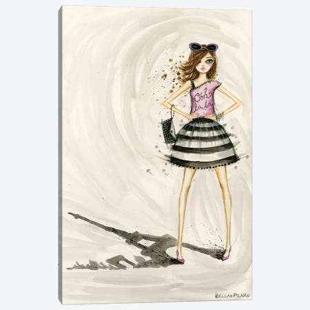 Paris Canvas Print #BPR287} by Bella Pilar Art Print