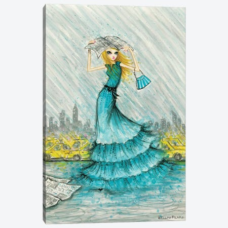 City Rain Canvas Print #BPR288} by Bella Pilar Canvas Wall Art