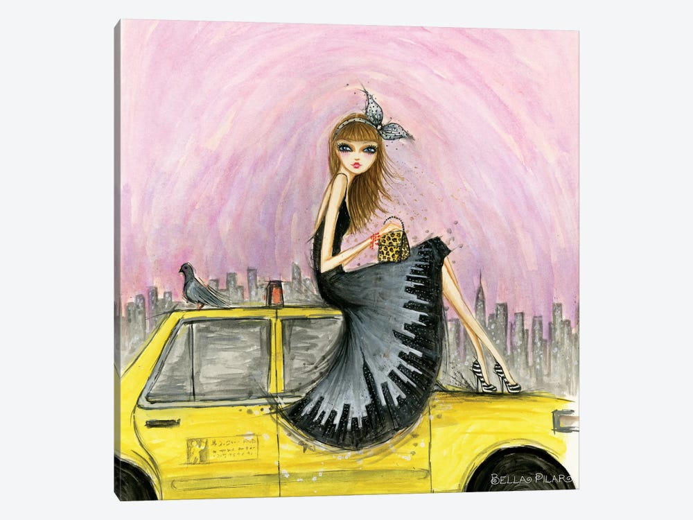 Travel In Style Series: New York by Bella Pilar 1-piece Art Print