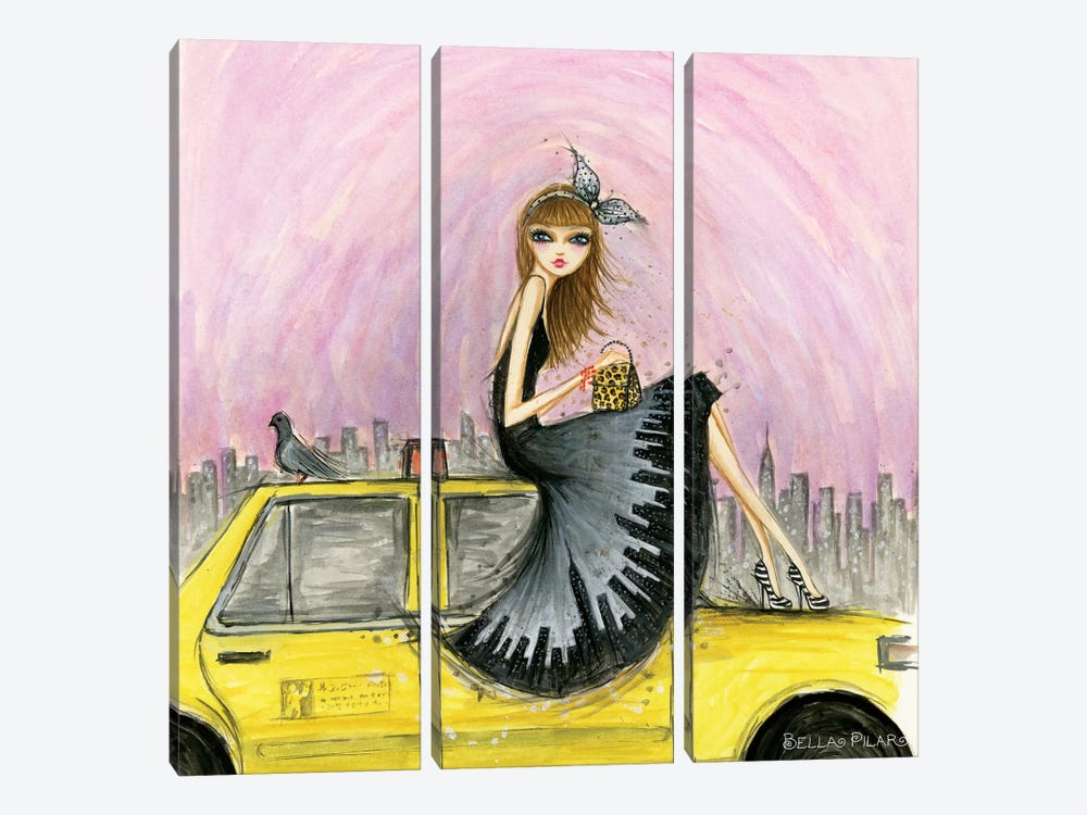 New York by Bella Pilar 3-piece Art Print