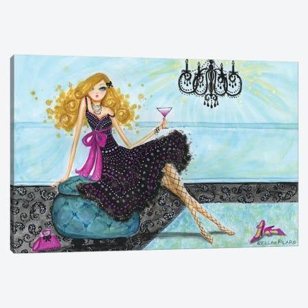 Best dress Paisley Chandelier Canvas Print #BPR28} by Bella Pilar Canvas Wall Art