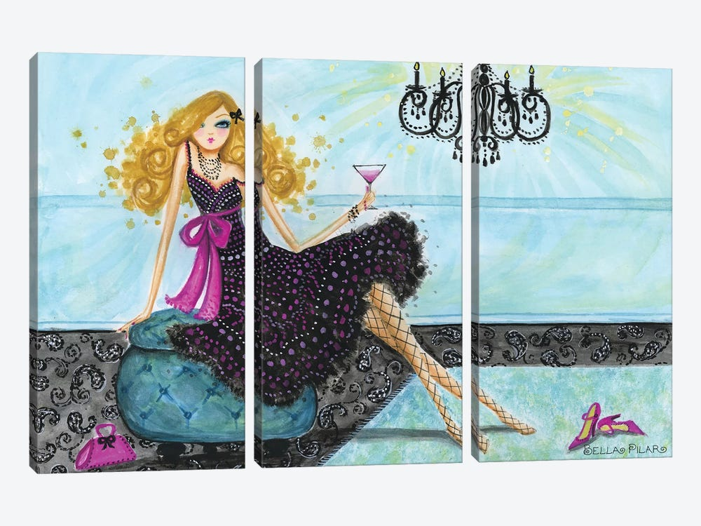 Best dress Paisley Chandelier by Bella Pilar 3-piece Canvas Art
