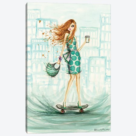 Uptown Skateboarder Canvas Print #BPR291} by Bella Pilar Canvas Art Print