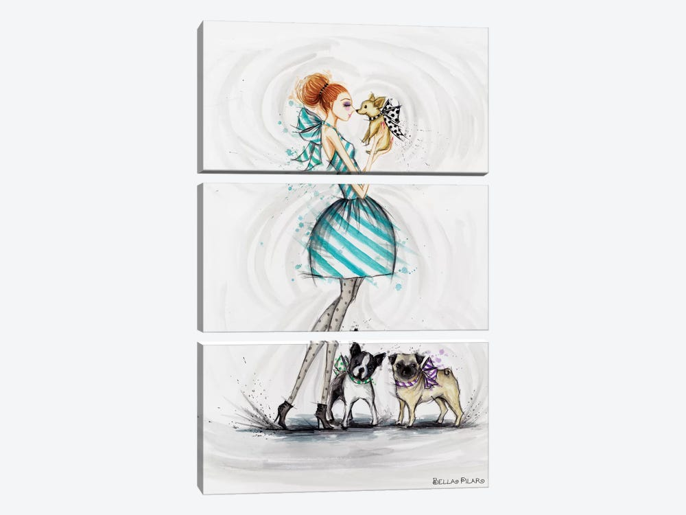 Wishing You Love by Bella Pilar 3-piece Canvas Print