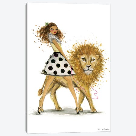 Leo Canvas Print #BPR293} by Bella Pilar Canvas Art Print