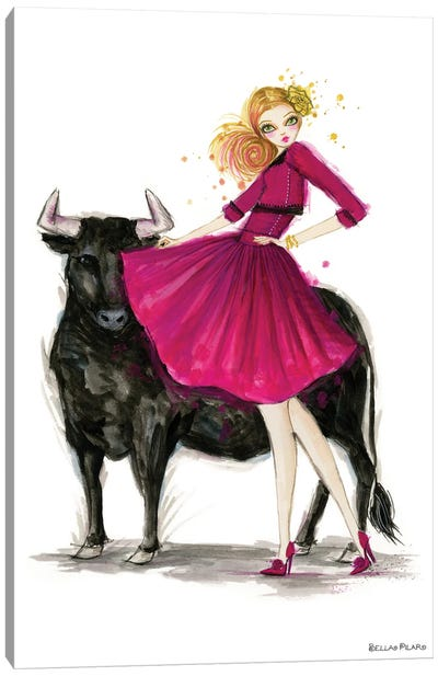 Zodiac Girls Series: Taurus Canvas Print #BPR294