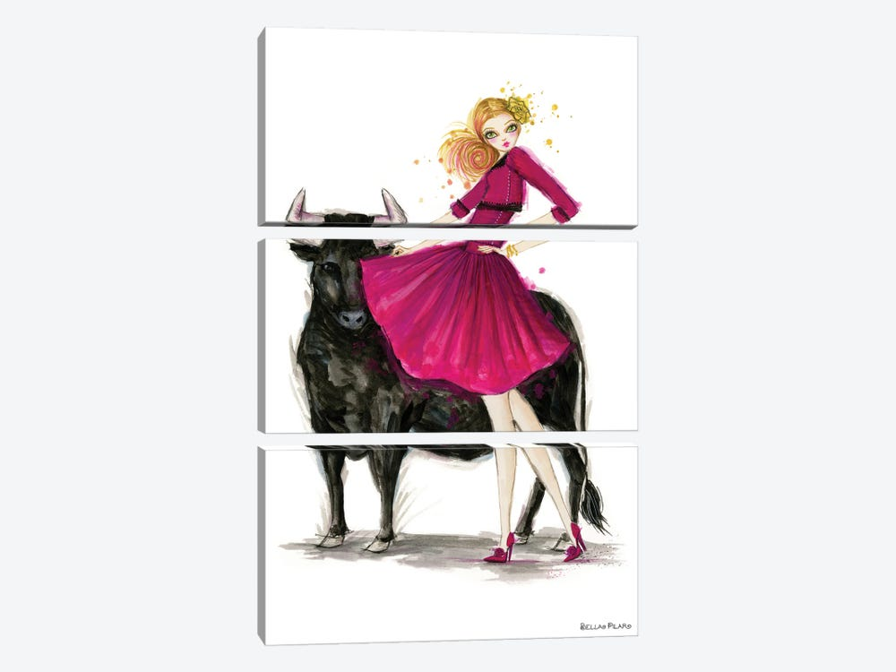 Zodiac Girls Series: Taurus by Bella Pilar 3-piece Art Print