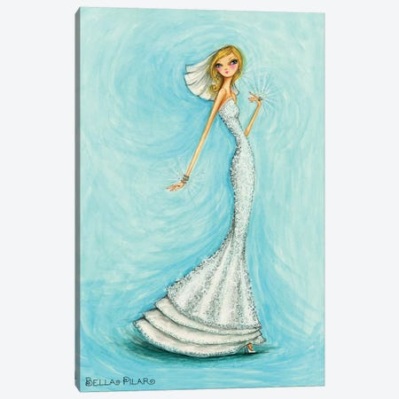 Bride Jewels Blue Canvas Print #BPR296} by Bella Pilar Canvas Art