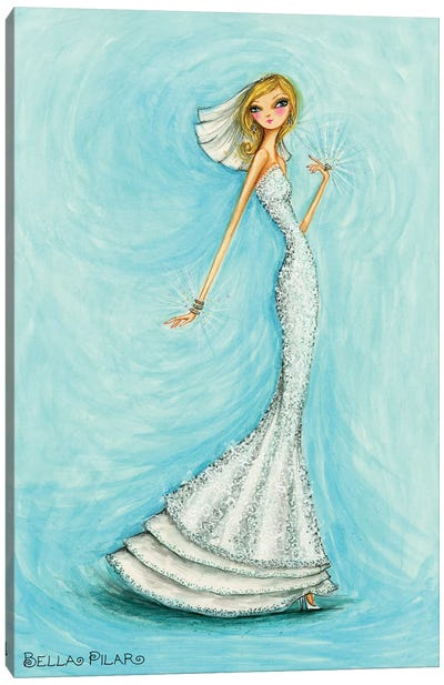 Bride Jewels Blue Canvas Art Print