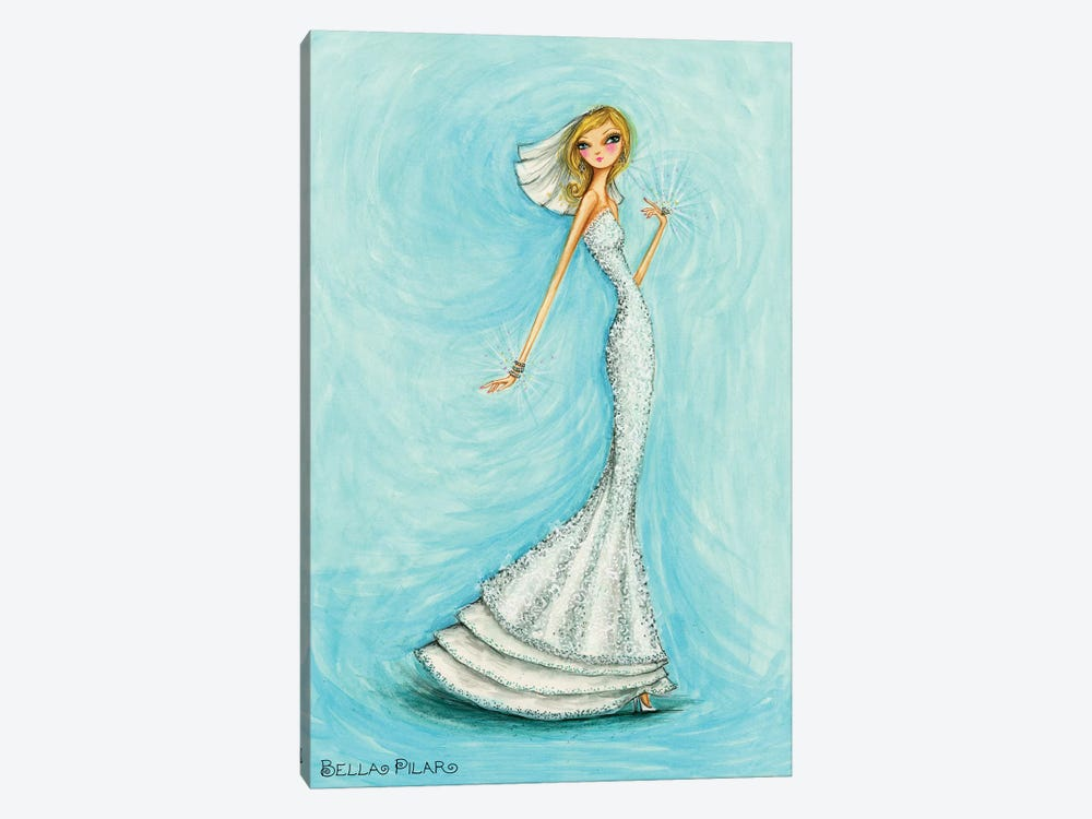 Bride Jewels Blue 1-piece Canvas Art Print
