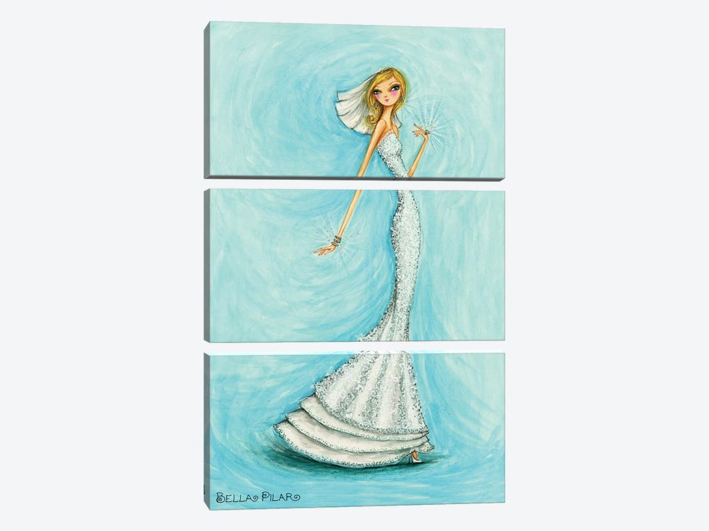 Bride Jewels Blue by Bella Pilar 3-piece Art Print