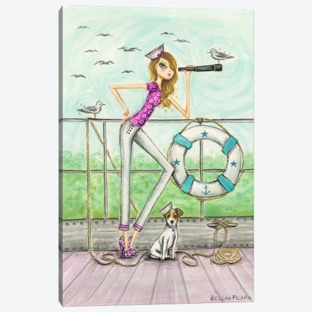 Ahoy Brenda Onboard Canvas Print #BPR2} by Bella Pilar Canvas Print