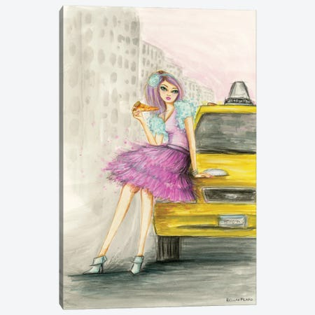 Harper And A Slice Of Joes Pizza Canvas Print #BPR302} by Bella Pilar Art Print