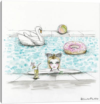 Lifestyle Hazel Takes A Dip Canvas Art Print