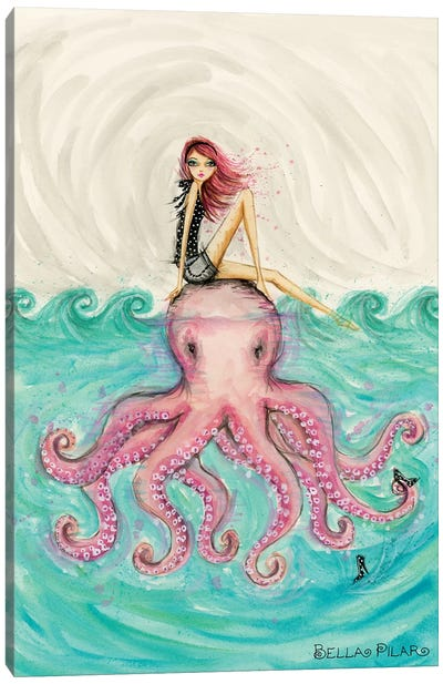 Octopus Girl Canvas Art Print