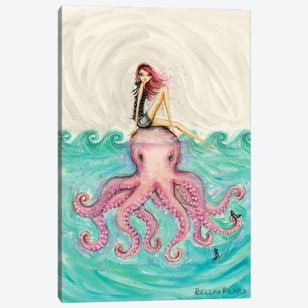 Octopus Girl Canvas Print #BPR308} by Bella Pilar Canvas Art Print