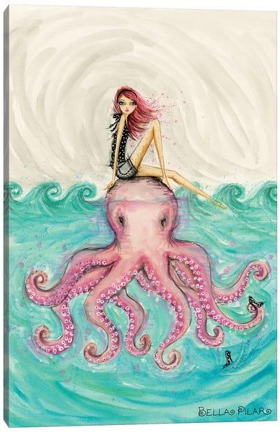 Octopus Girl Canvas Art Print