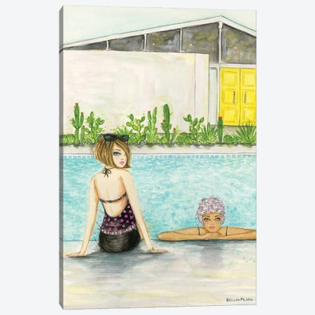 Palm Springs Pool Chill Canvas Print #BPR309} by Bella Pilar Canvas Print