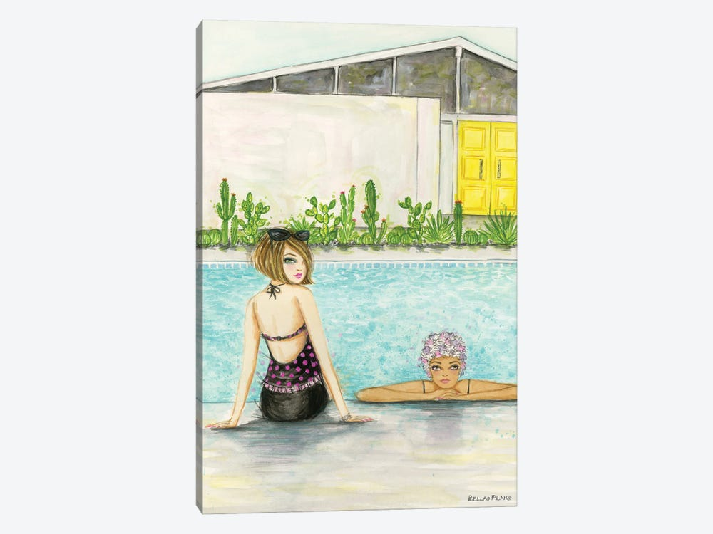 Palm Springs Pool Chill by Bella Pilar 1-piece Canvas Art