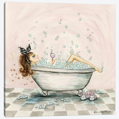 Pamper Yourself Bubble Bath Canvas Print #BPR310} by Bella Pilar Canvas Art