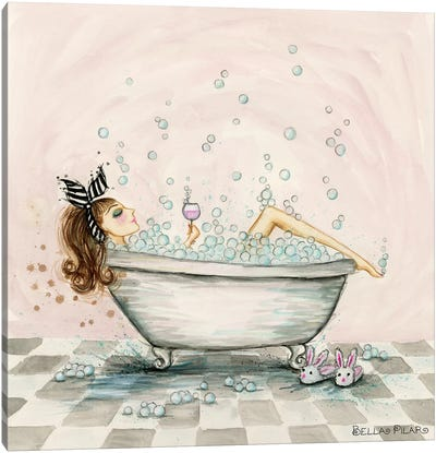 Pamper Yourself Bubble Bath Canvas Art Print