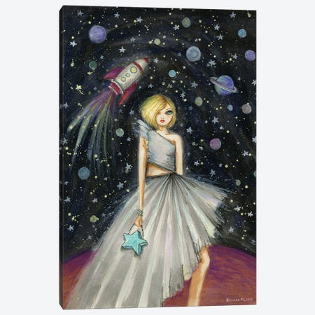 Suzie In Space Canvas Print #BPR311} by Bella Pilar Canvas Wall Art