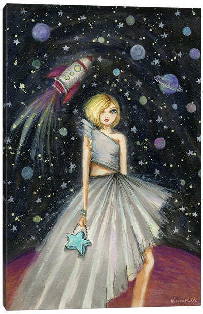 Suzie In Space Canvas Art Print