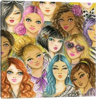 Bold & Bright Women Canvas Art Print
