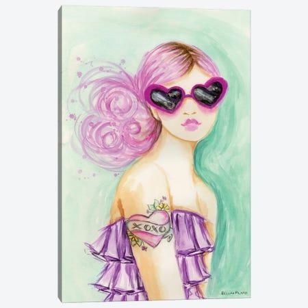 Bold & Bright XOXO Canvas Print #BPR313} by Bella Pilar Canvas Wall Art