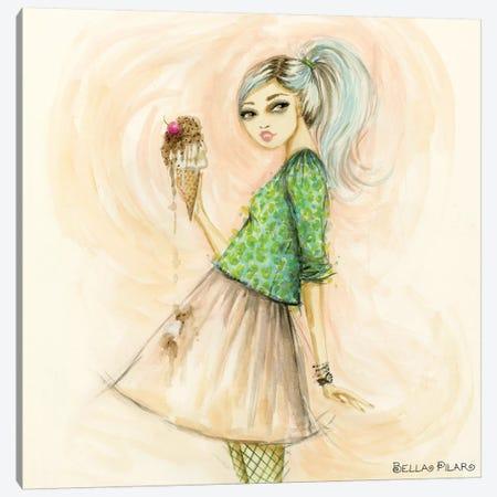 Celebrate When Something Caught Kats Eye Canvas Print #BPR315} by Bella Pilar Art Print