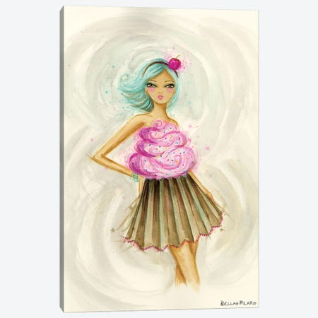 Cupcake Dress 3-Piece Canvas #BPR317} by Bella Pilar Canvas Print