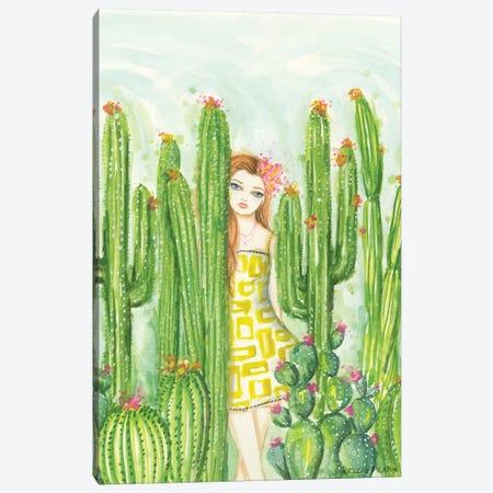 Day In The Desert Caitlin In The Cactus Garden Canvas Print #BPR318} by Bella Pilar Canvas Art