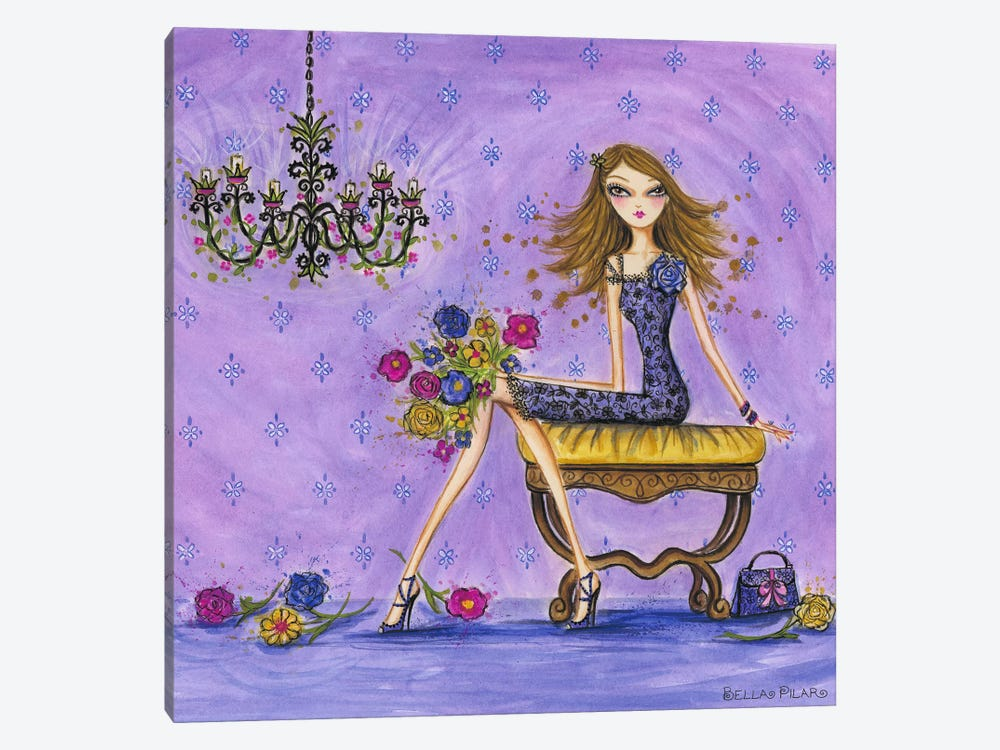 Best dress Very Violet 1-piece Canvas Wall Art
