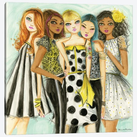 Girls Hang Canvas Print #BPR328} by Bella Pilar Art Print