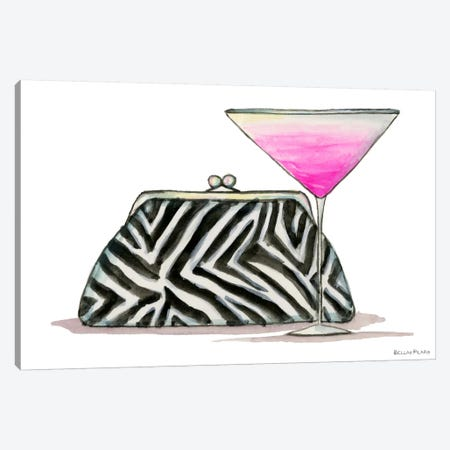 Best dress Zebra Couture Cocktail Canvas Print #BPR32} by Bella Pilar Canvas Print