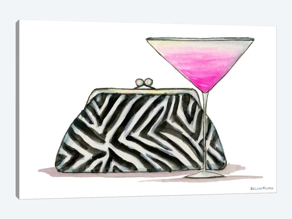 Best dress Zebra Couture Cocktail by Bella Pilar 1-piece Canvas Print